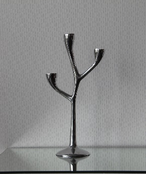All Event Africa 3-stick Branch Silver Candelabra - small