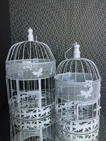 All Event Africa Bird Cage White 40cm