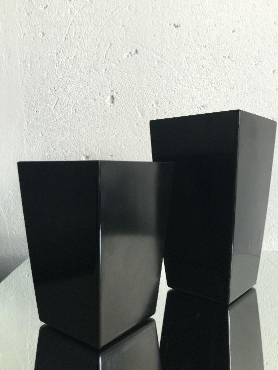 All Event Africa Black plastic Square vase 24cm x 13cm