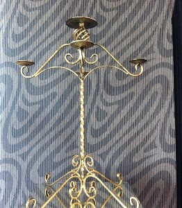 All Event Africa Bronze Wrought Iron Candleabra