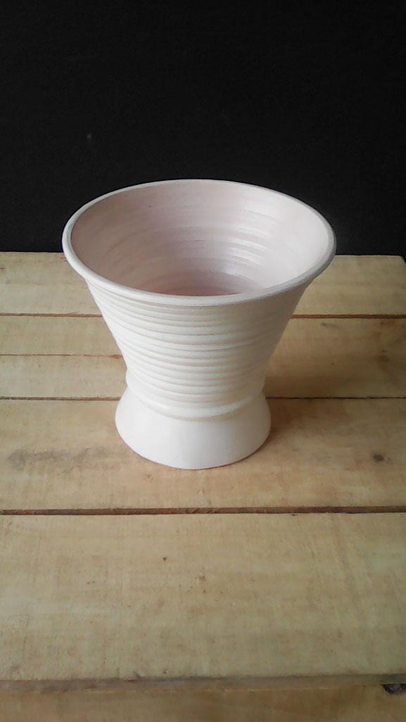 All Event Africa Ceramic Pot Round - White