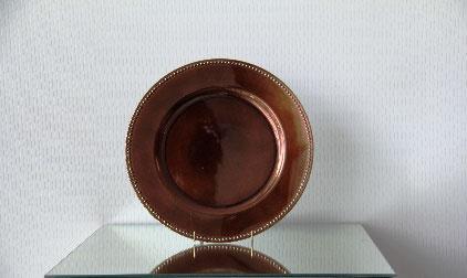All Event Africa Copper/Bronze Beaded Melamine Underplates
