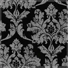 All Events Africa – Floral Black on Silver tieback 1,8m