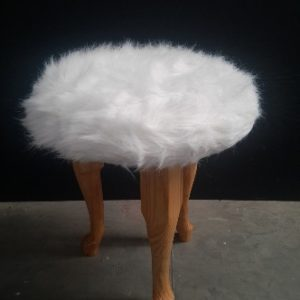 All events Africa Furry Stool Wood With White