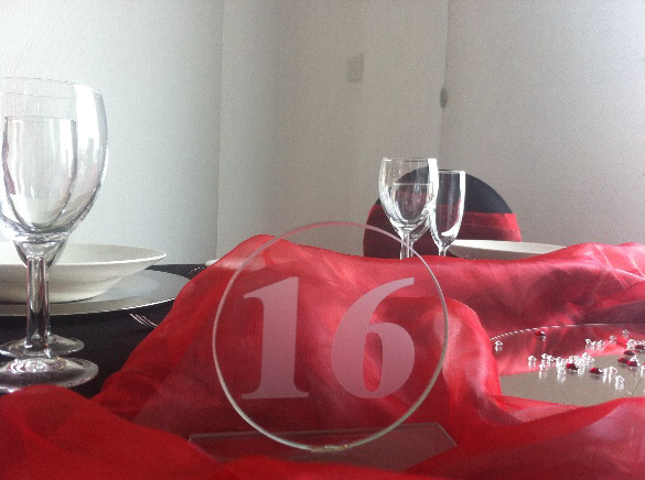 All Event Africa Glass Table Numbers 1-20