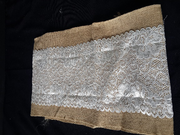 All Events Africa Hessian With White lace runners
