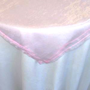 All Events Africa Organza Overlays 1,5m-x-1,5m Soft Pink