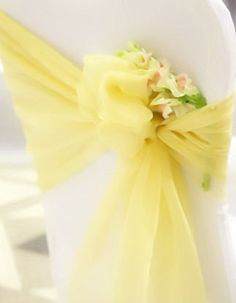All Events Africa Organza Runners or tiebacks Pale yellow