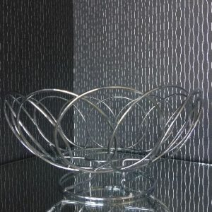 All Events Africa Round Chrome Bread Basket