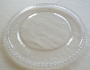 All Event Africa Round Glass Under Plates - Beaded