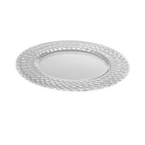 All Event Africa Round Glass Under Plates - Diamond