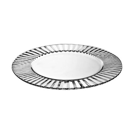 All Event Africa Round Glass Under Plates - Striped