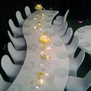 All events Africa S-Shape Dining Table High Gloss White