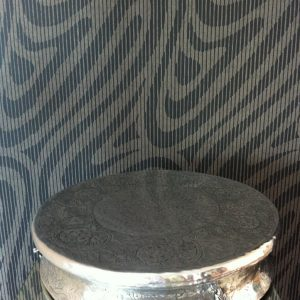 All events Africa Silver embossed Cake Stand 55cm