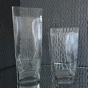 All Event Africa Square Glass tapered vase - 23cm