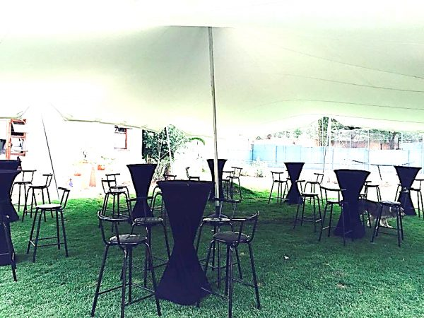 All events Africa Standard Black Bar Stool