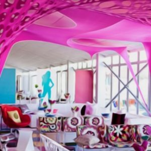 All Events Africa Stretch Decor pink
