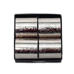All Event Africa Swirl Silver serviette rings