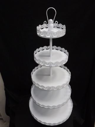 All events Africa White 5 Tier Cake Stand