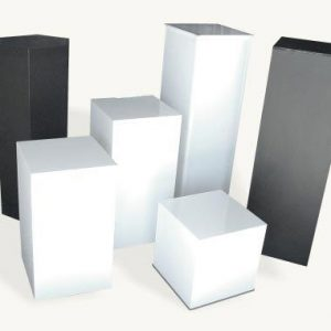All Event Africa White Plinth Box Stand
