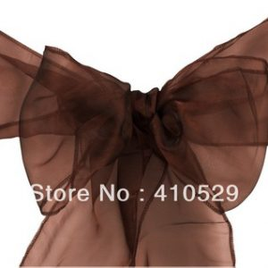 All Events Africa organza Runners Or tie-Backs Chocoloate Brown