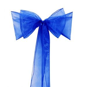All Events Africa organza Runners or tiebacks royal blue