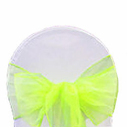 All Events Africa organza runners or tiebacks bright yellow