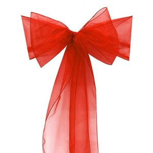 All Events Africa organza runners or tiebacks red