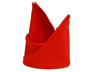 All Events Africa plain red Serviettes
